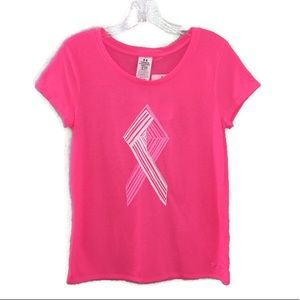 Under Armour Heat Gear Pink Breast Cancer Tee